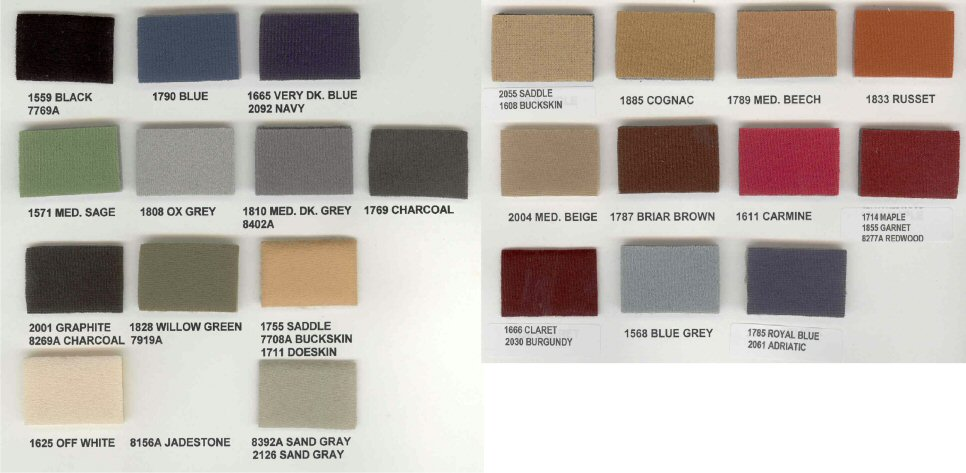 Amazon.com: Headliner Magic Flat Knit Style Headliner ... |Headliner Color Chart